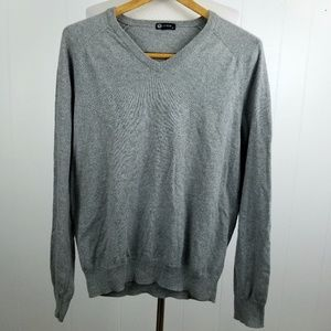 J Crew Men Pullover V Neck Cashmere Cotton Sweater